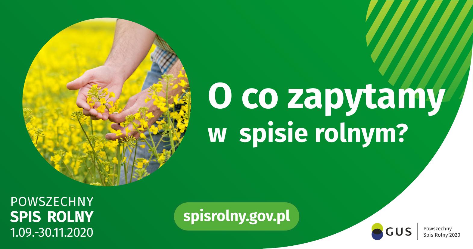 plakat- o co zapytamy w spisie rolnym